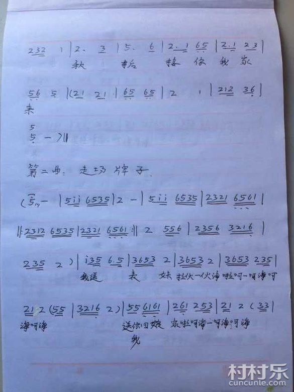 湖南花鼓戏 邵阳花鼓戏曲谱 79 送表妹 全剧