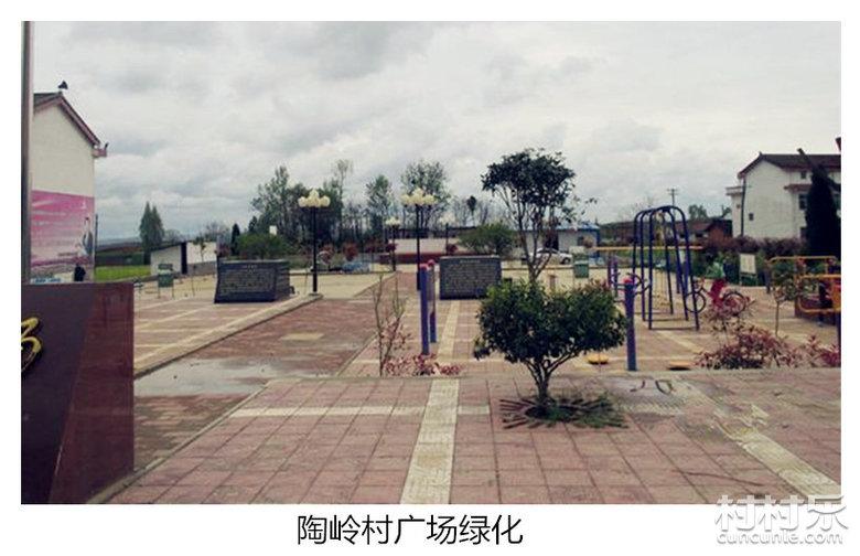 美丽的陶岭村广场