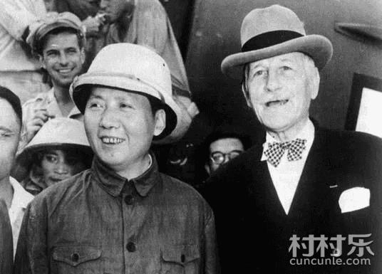 重庆谈判毛主席戴帽子