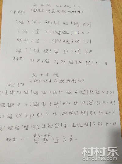 邵阳花鼓戏曲谱 邵东花鼓戏曲谱全集之四 湖南花鼓戏曲谱